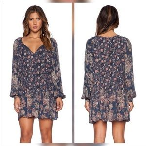 FREE PEOPLE PRINT DRESS LINED